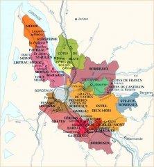 Карта Бордо